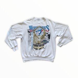 Vintage Toronto Blue Jays World Series Sweater